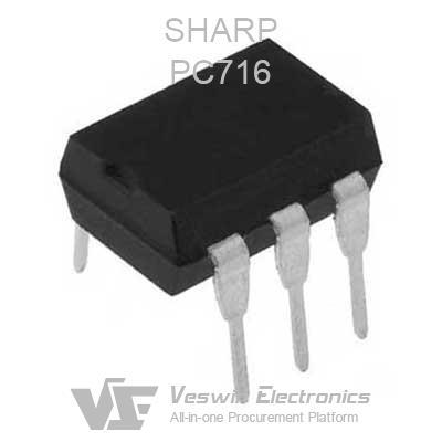 PC713V SHARP OPTO INTEGRATED CIRCUIT DIP-6  PC713  /'UK COMPANY SINCE 1983 NIKKO/'